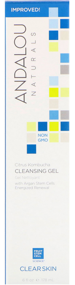 74Andalou Naturals Cleansing Gel Citrus Kombucha Clear Skin